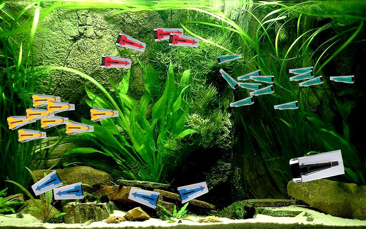 A shoal of bias binding makers swim across our new TrixieLixie aquarium.