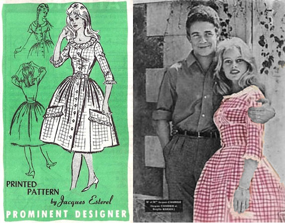 All you need is a great pattern, a few metres of gingham fabric, and you too can be Bridget Bardot.....Well maybe.