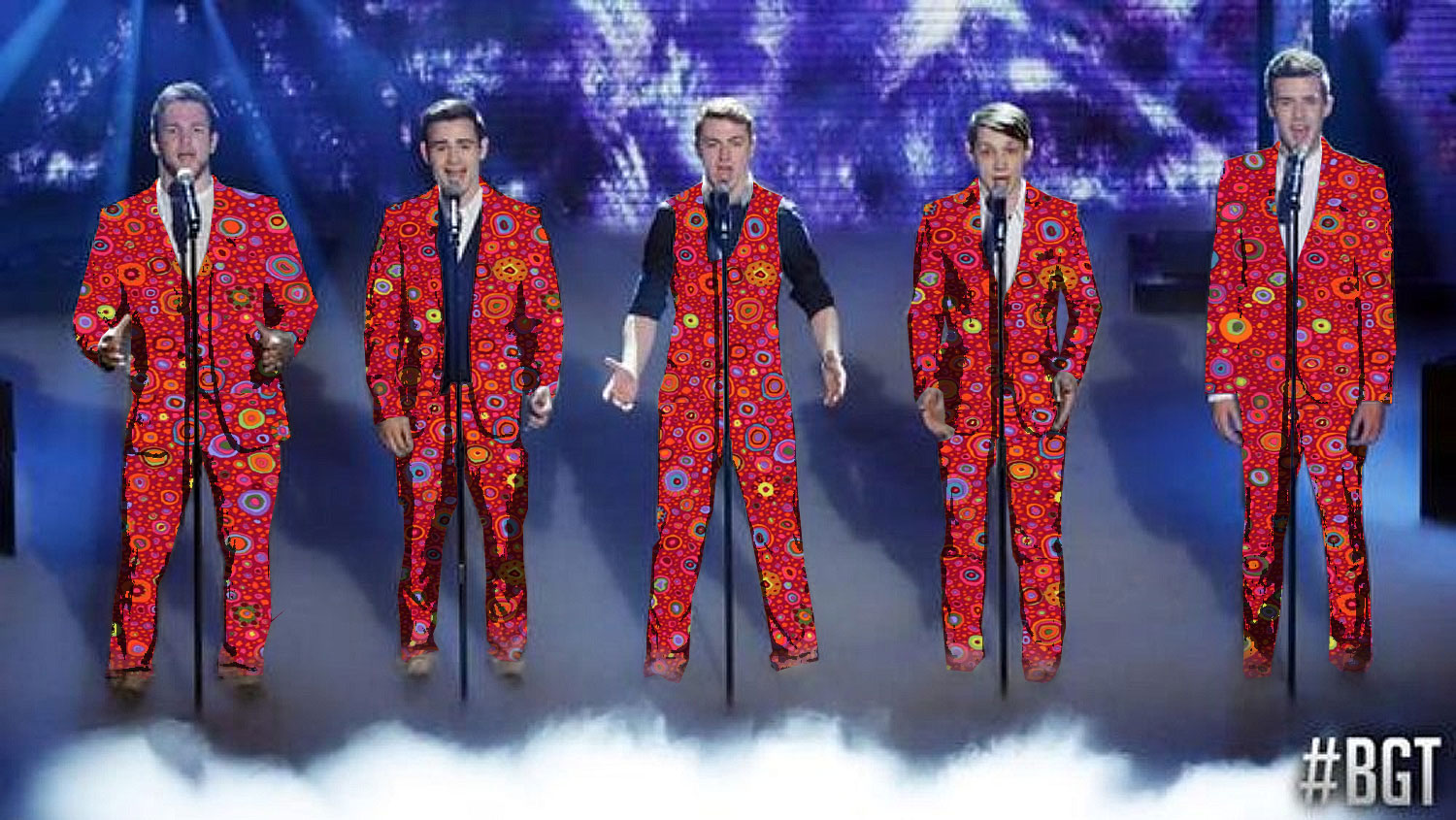 After being offended by criticism of those grey suits, BGT's Collabro get the TrixieLixie razzle-dazzle treatment.