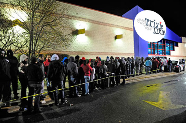 At 5.30am people were already queuing outside the TrixieLixie Superstore for the non-existent Black Friday sale.