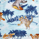 surfin cats blue