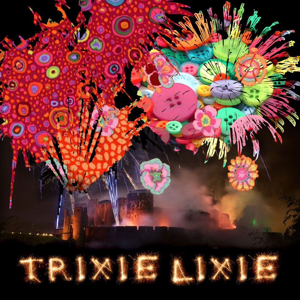 A TrixieLixie firework display over Cardiff Castle..