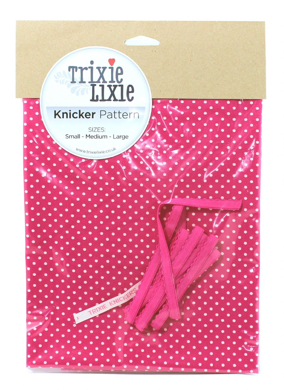 cerise spot knicker kit