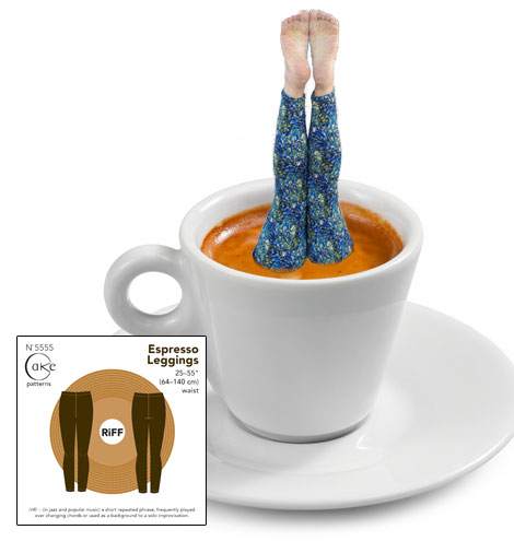 The deliciously named espresso leggings sewing patterns are now in stock.