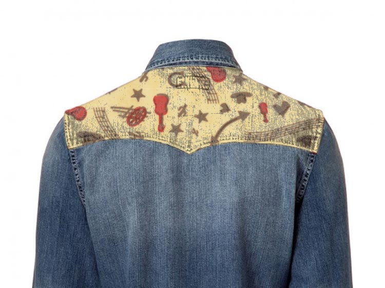 Honky tonk fabric flash on denim